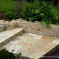 muret gneiss et dallage quartzite